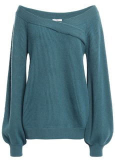 Brunello Cucinelli Woman Ribbed Cashmere Sweater Teal