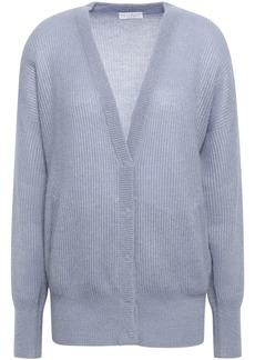 Brunello Cucinelli Woman Ribbed-knit Cardigan Light Blue