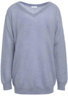 Brunello Cucinelli Woman Ribbed-knit Sweater Sky Blue