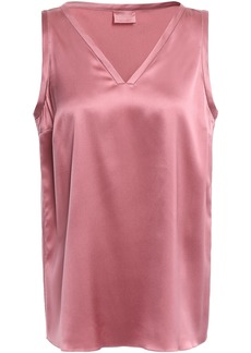 Brunello Cucinelli Woman Silk-blend Satin Tank Antique Rose