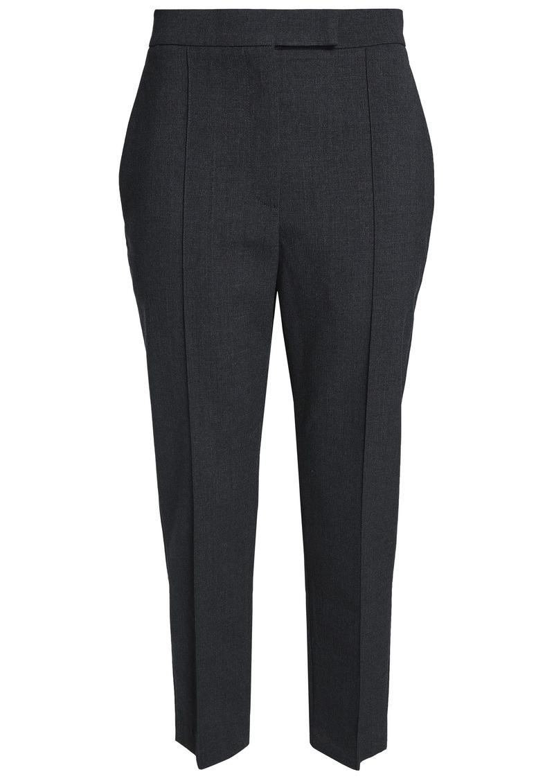 Brunello Cucinelli Woman Stretch-wool Tapered Pants Anthracite