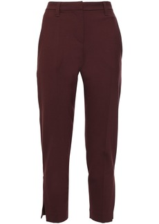 Brunello Cucinelli Woman Stretch-wool Tapered Pants Burgundy