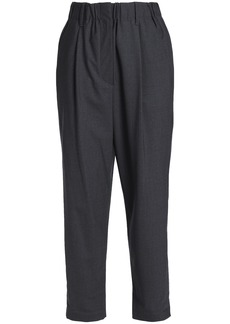 Brunello Cucinelli Woman Wool-blend Straight-leg Pants Anthracite