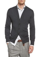 Brunello Cucinelli Wool-Blend Knit Cardigan