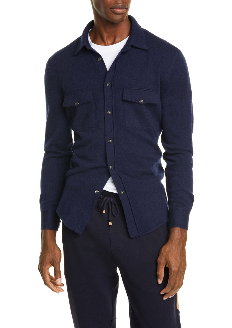 Brunello Cucinelli Wool Blend Western Overshirt