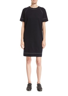 Brunello Cucinelli Wool-Cotton T-Shirt Dress with Lurex® Trim