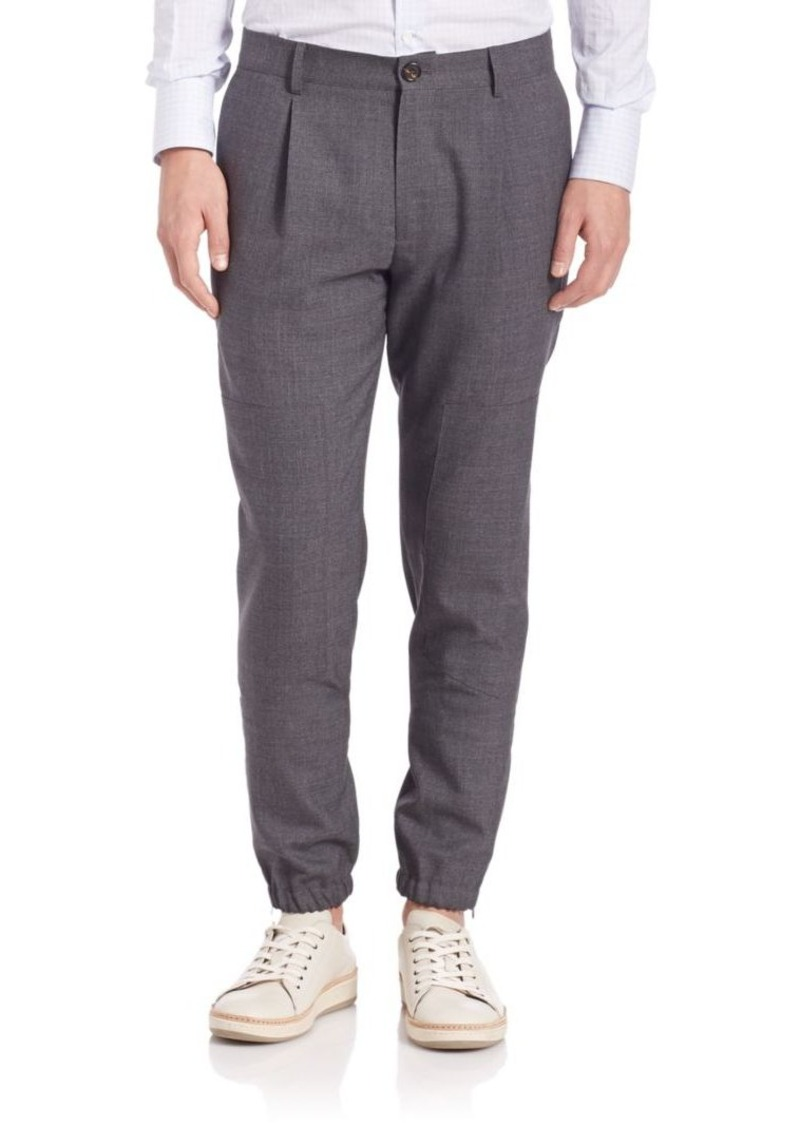 Brunello Cucinelli Wool Jogger Pants