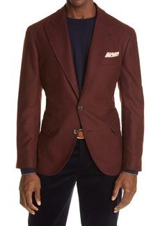 Brunello Cucinelli Wool, Silk & Cashmere Twill Sport Coat