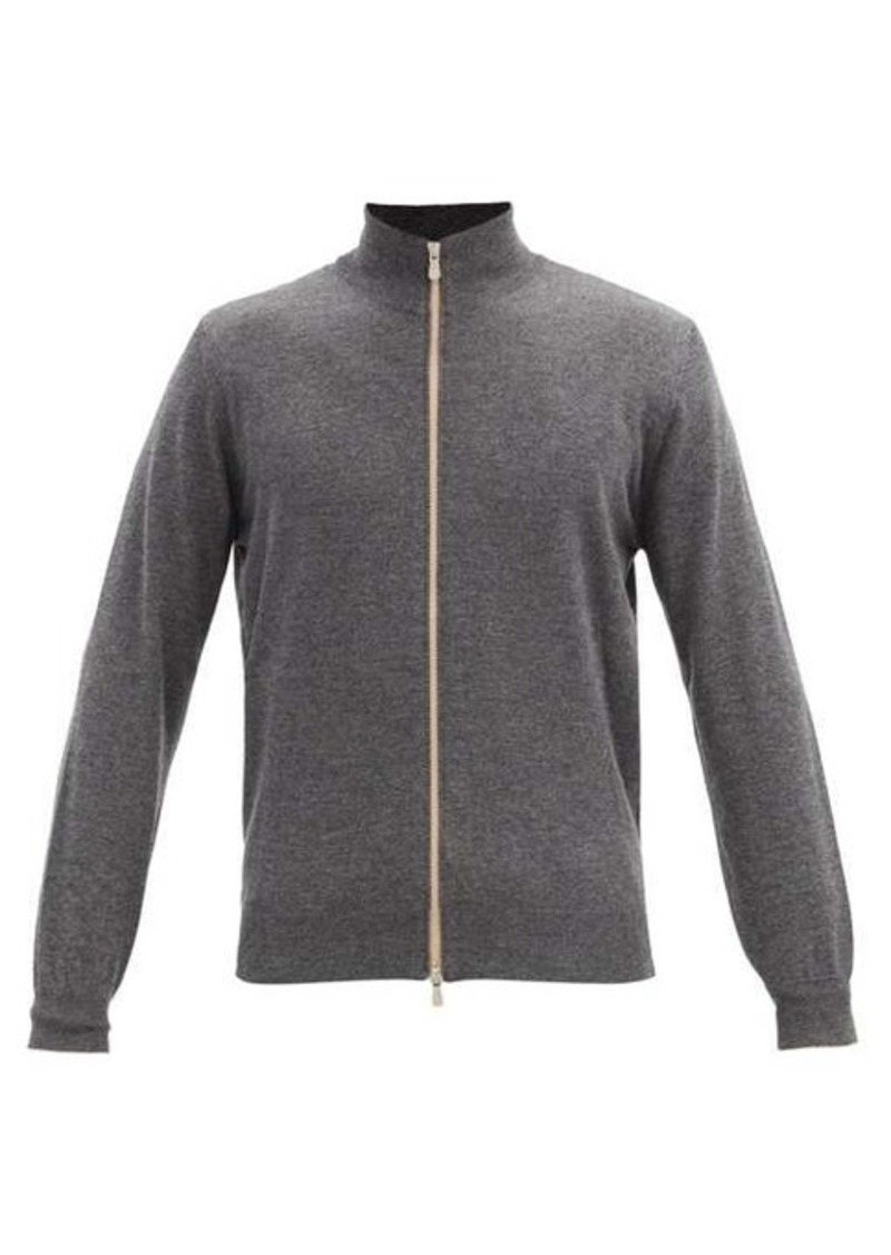 Brunello Cucinelli Zipped cashmere track jacket