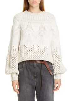 Brunello Cucinelli Brunello Cucinello Fair Isle Cashmere & Silk Sweater