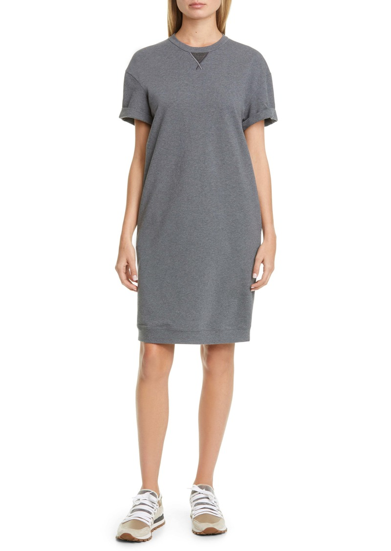Brunello Cucinelli Brunello Cucinello Monili Detail Sweatshirt Dress