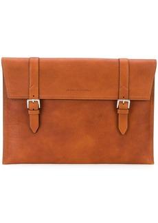 Brunello Cucinelli buckle detail briefcase