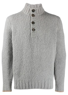 Brunello Cucinelli button high neck sweater