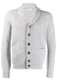 Brunello Cucinelli button ribbed knit cardigan