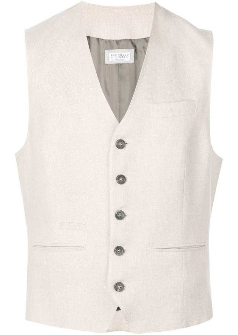 Brunello Cucinelli button up vest