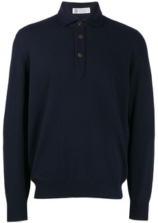 Brunello Cucinelli buttoned collar sweater