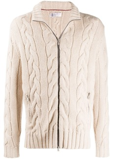 Brunello Cucinelli cable knit cardigan