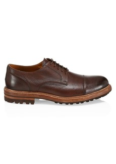 Brunello Cucinelli Cap Toe Leather Oxfords