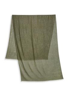 Brunello Cucinelli Cashmere & Silk Metallic Scarf