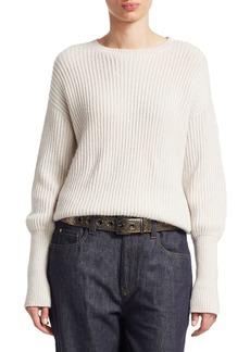 Brunello Cucinelli Cashmere & Silk Ribbed Sweater