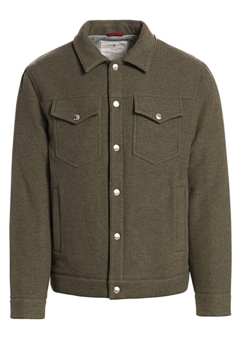 Brunello Cucinelli Cashmere & Wool Trucker Jacket