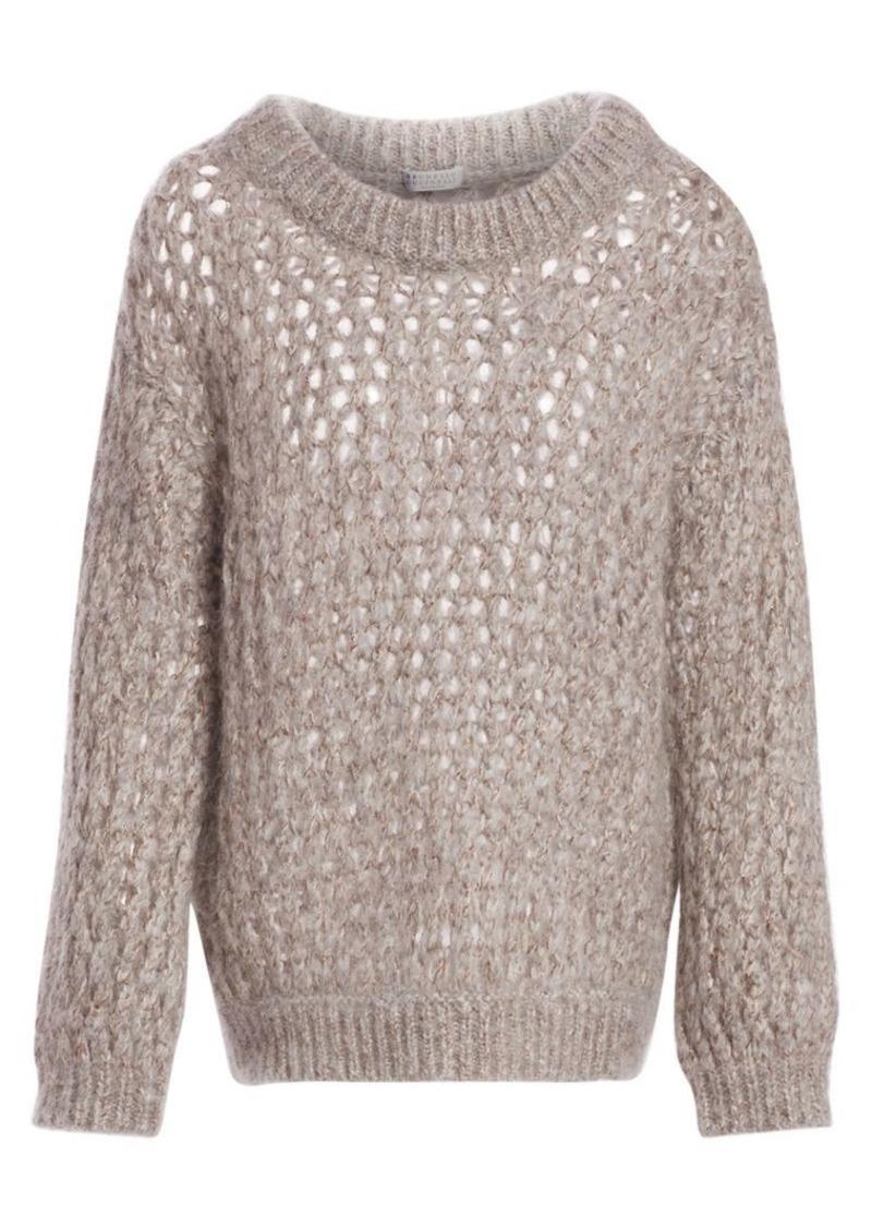 Brunello Cucinelli Cashmere Net Weave Sweater