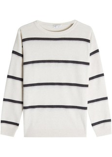 Brunello Cucinelli Cashmere Pullover with Embellishment