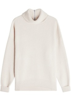 Brunello Cucinelli Cashmere Pullover with Zipped Back