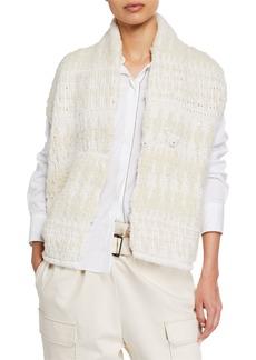 Brunello Cucinelli Cashmere Sequined Opera-Knit Sleeveless Sweater