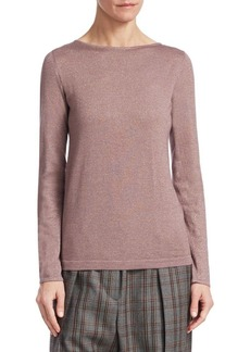 Brunello Cucinelli Cashmere Silk Lurex-Knit Top