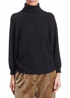 Brunello Cucinelli Cashmere Silk Turtleneck Sweater