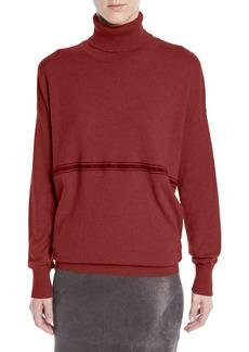 Brunello Cucinelli Cashmere Turtleneck Sweater w/ Monili Stripe