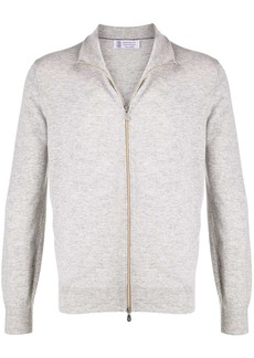 Brunello Cucinelli cashmere zipped sweatshirt