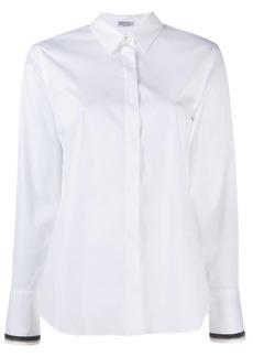 Brunello Cucinelli chain trim classic shirt