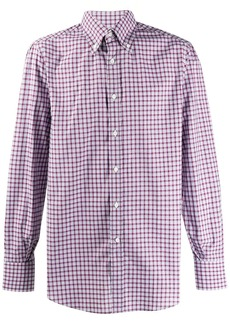 Brunello Cucinelli check fitted shirt