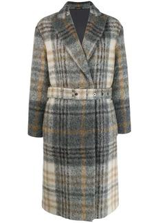 Brunello Cucinelli check print coat