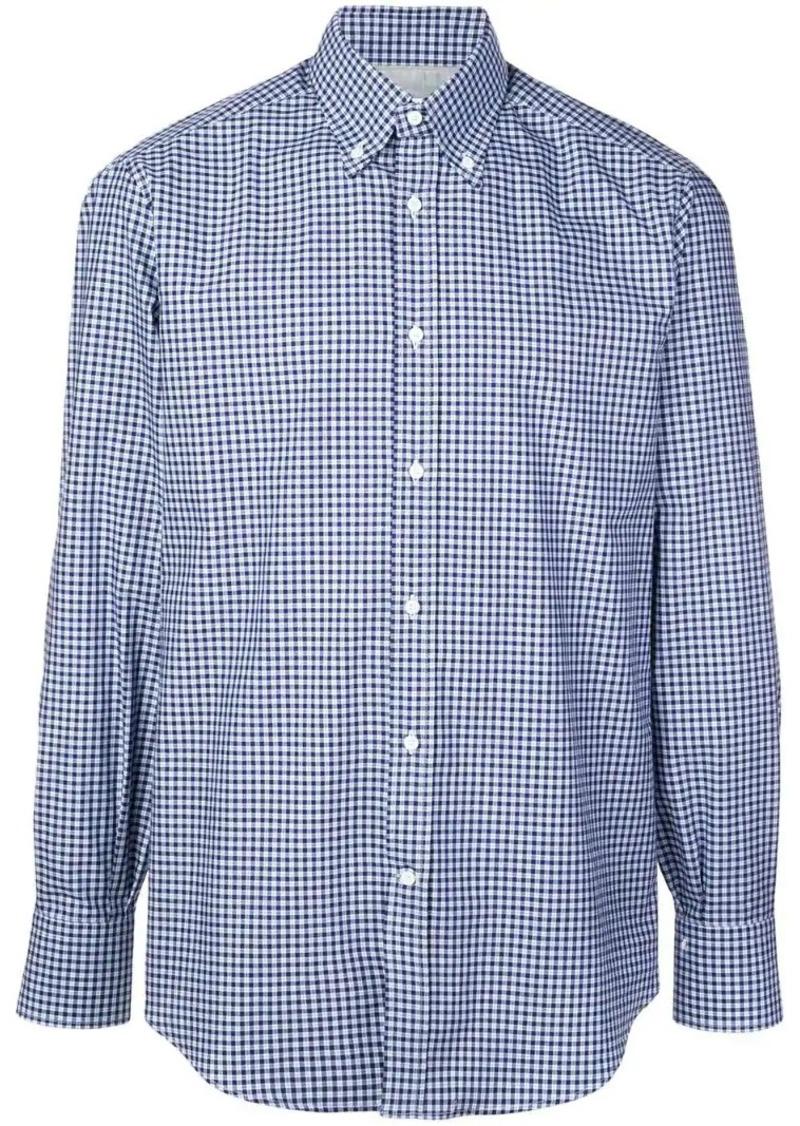Brunello Cucinelli checked button-down shirt