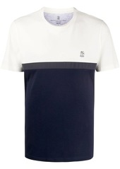 Brunello Cucinelli colour-block T-shirt