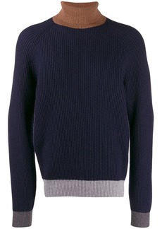 Brunello Cucinelli colour-block turtleneck jumper