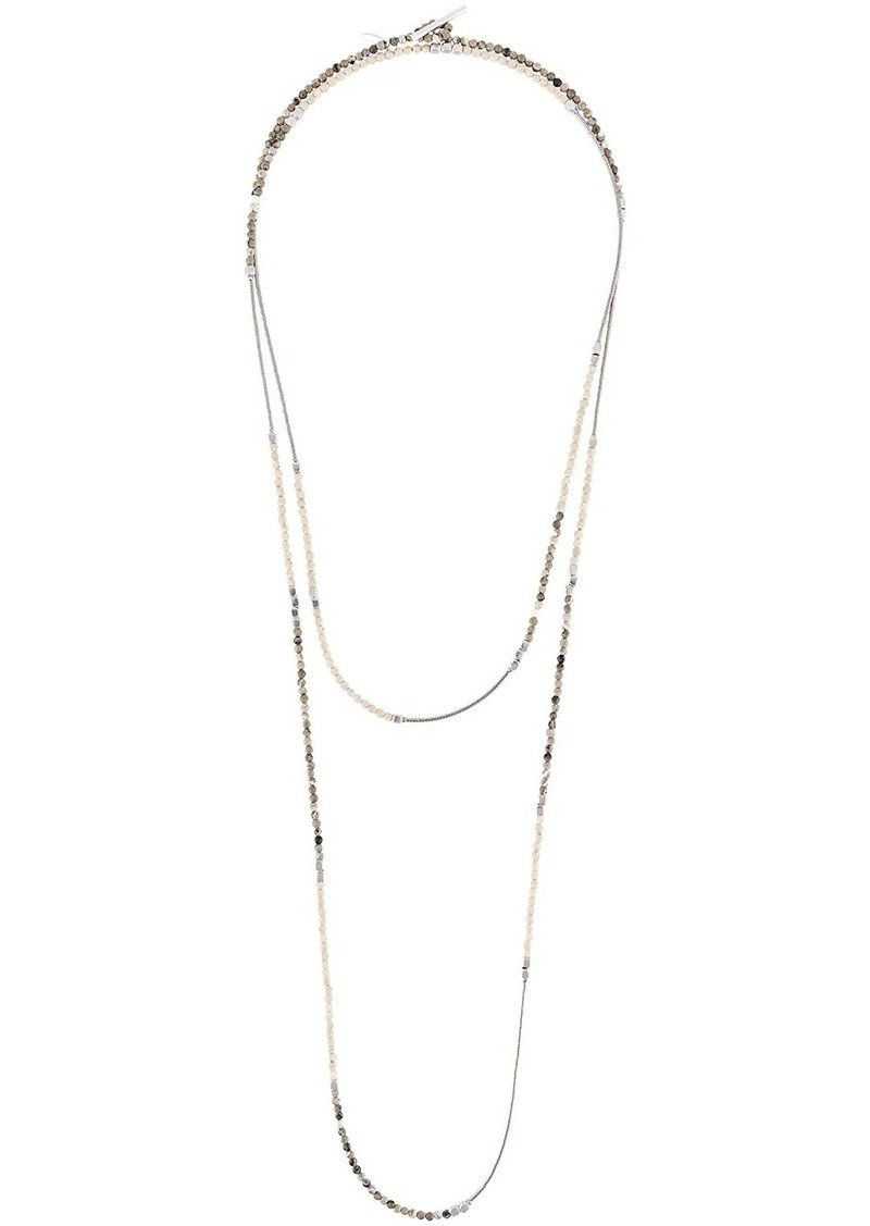 Brunello Cucinelli contrast beaded layered necklace