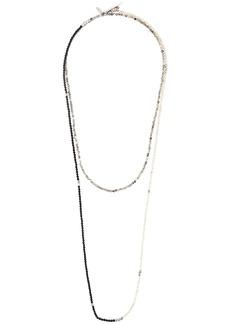 Brunello Cucinelli contrast colour beaded necklace