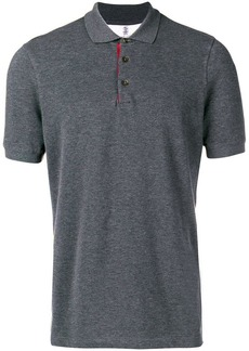 Brunello Cucinelli contrast detail polo shirt