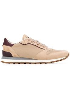 Brunello Cucinelli contrast low-top sneakers