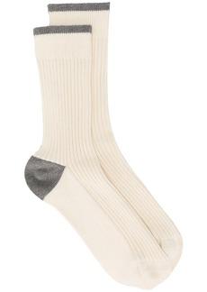 Brunello Cucinelli contrast panel socks