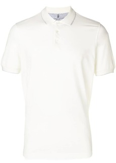 Brunello Cucinelli contrast piping polo shirt
