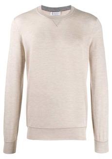 Brunello Cucinelli contrast stitch jumper