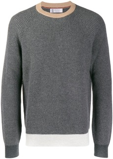 Brunello Cucinelli contrast trimmed jumper