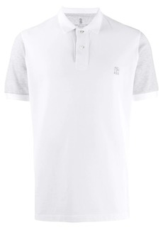 Brunello Cucinelli contrasting sleeves polo shirt