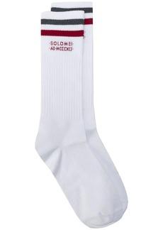 Brunello Cucinelli contrasting stripe mid-length socks