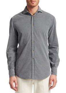Brunello Cucinelli Cord Basic Cotton Button-Down Shirt